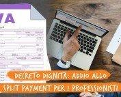 Prestazioni professionali senza split payment