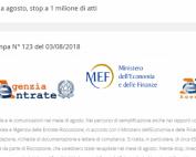 Pausa estiva cartelle e lettere di compilance redditi 2015 e 2014: comunicato MEF e AdE