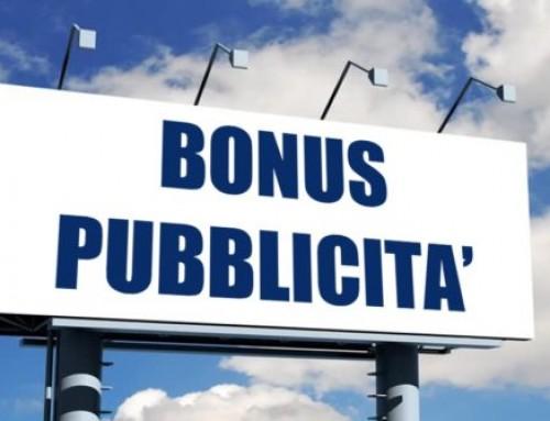 Bonus pubblicità 2020, comunicazione per l'accesso dal 1° al 31 marzo